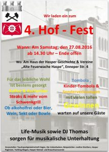 Hof-Fest Plakat