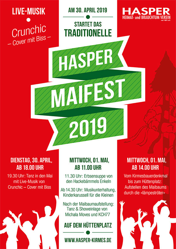 Hasper Maifes, 30. April und 1. Mai 2019