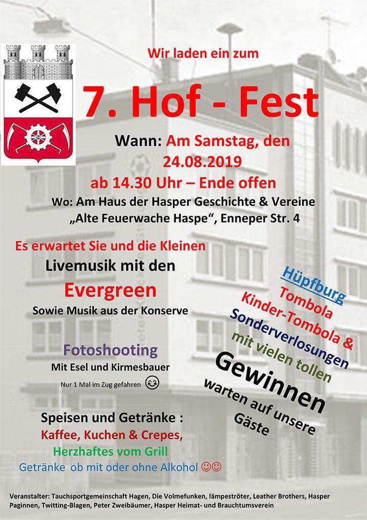 Plakat 7. Hof-Fest